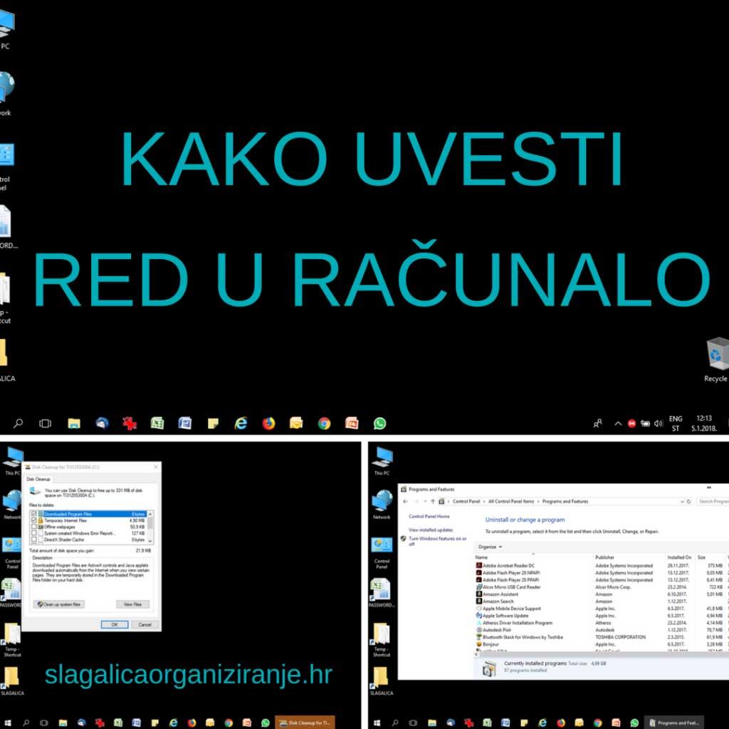 kako organizirati podatke u računalu