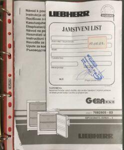 organizacija uputstva za upotrebu i jamstvenih listova